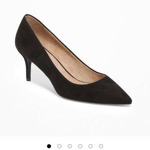 Black H&M short heels